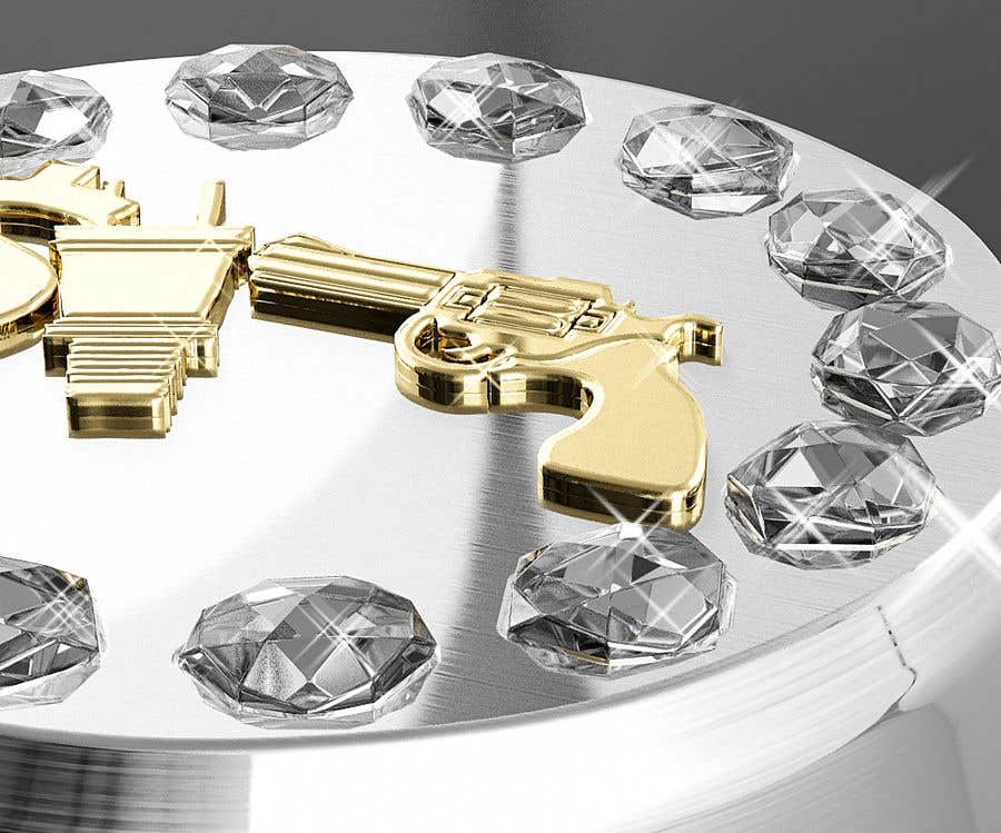"Kilpailutyö #9 kilpailussa Design a mens ring with my logo ""MONEY, PLUG, GUN"""