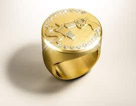 "Nro 16 kilpailuun Design a mens ring with my logo ""MONEY, PLUG, GUN"" käyttäjältä behzadfreelancer"