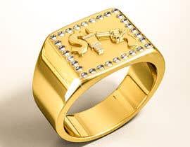 "Nro 18 kilpailuun Design a mens ring with my logo ""MONEY, PLUG, GUN"" käyttäjältä behzadfreelancer"