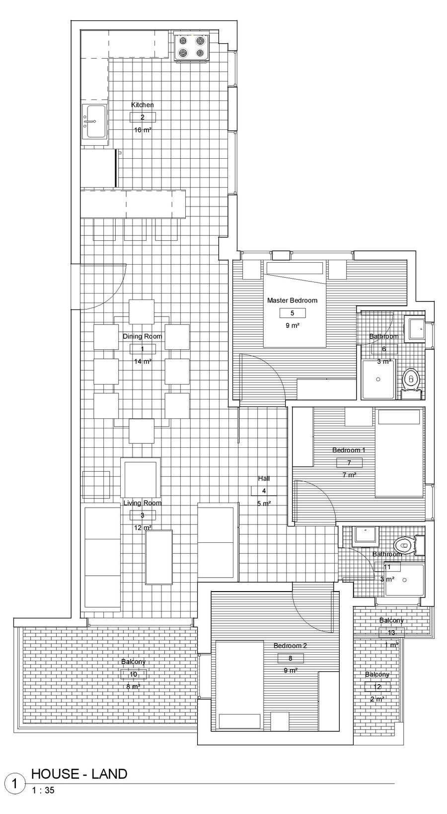 Penyertaan Peraduan #9 untuk interior design