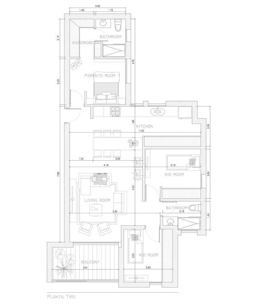 Penyertaan Peraduan #20 untuk interior design