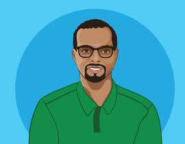 Nro 31 kilpailuun Make an animated vector illustration of a black male with green polo shirt. käyttäjältä Arturios505