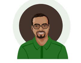 Nro 19 kilpailuun Make an animated vector illustration of a black male with green polo shirt. käyttäjältä sharminaktergd