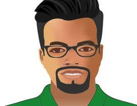 Nro 21 kilpailuun Make an animated vector illustration of a black male with green polo shirt. käyttäjältä graphicexperta1