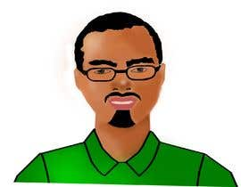 nº 13 pour Make an animated vector illustration of a black male with green polo shirt. par MadhushaniPV