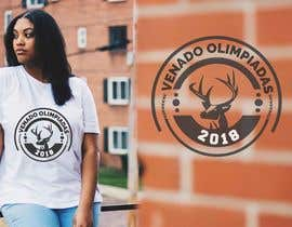 "nº 20 pour A logo for a t-shirt with the outline of a deer face and that says ""Venado Olimpiadas 2018"" par abuhenarasel1"