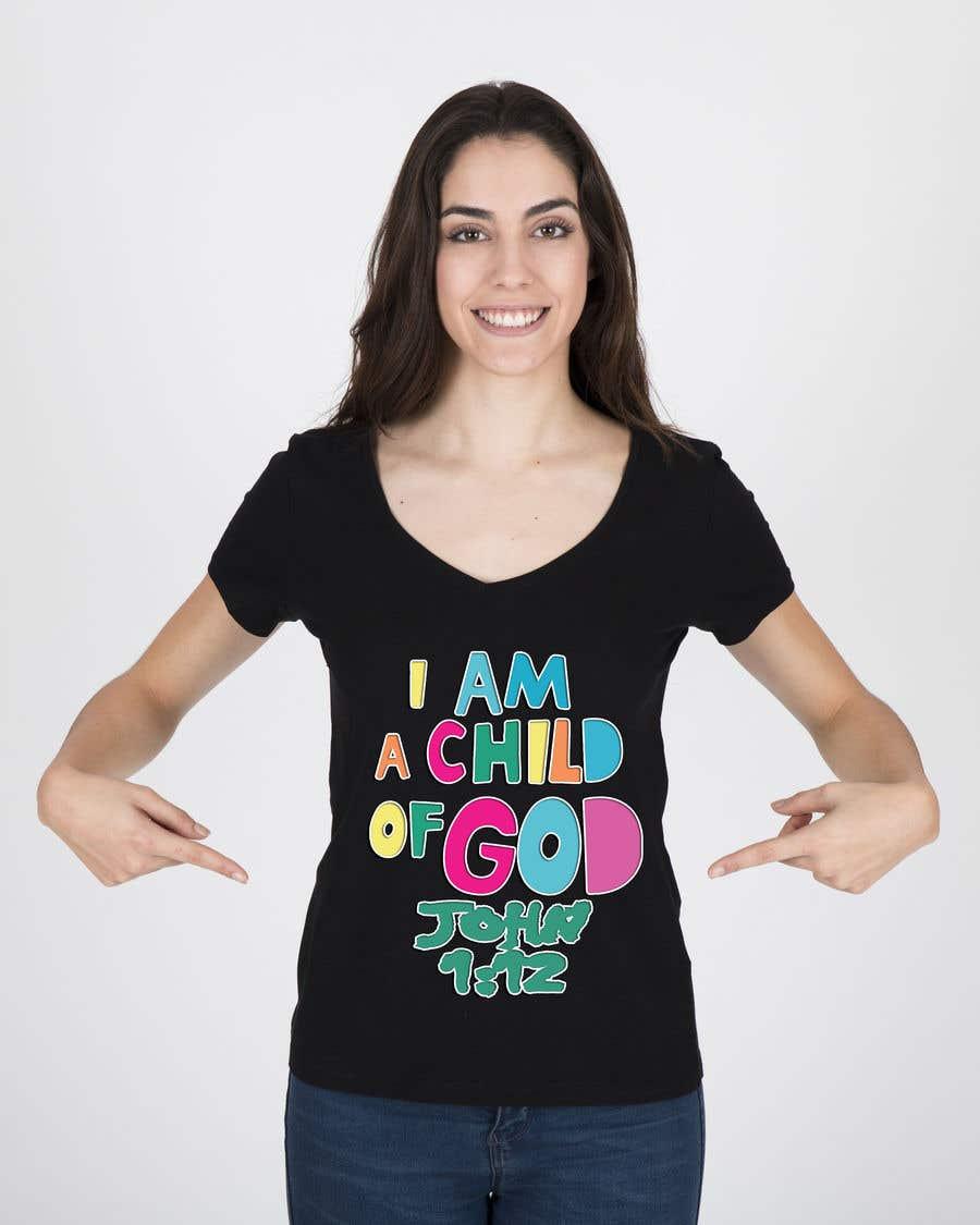 "Penyertaan Peraduan #29 untuk ""I am a Child of God - John 1:12"" - Tshirt Design for Baby, Toddlers, Little Boy and Little Girl"