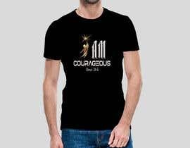 "#79 para ""I am Courageous. Deut 31:6"" - BOYS Tshirt Design por Msrohani420"