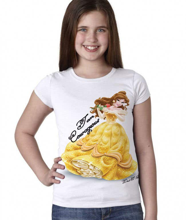 "Konkurrenceindlæg #12 for ""I am Courageous. Deut 31:6"" - GIRLS Tshirt Design"