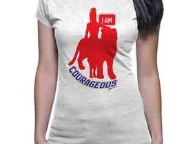 """Nro 47 kilpailuun """"I am Courageous. Deut 31:6"""" - GIRLS Tshirt Design käyttäjältä nazmussakibpolas"""