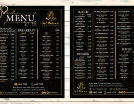 #24 para Menu for a restaurant por andreschacon218