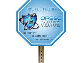 "ingpedrodiaz tarafından Design a ""protected by"" sign for out security company için no 10"