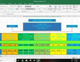 #20 for Excel Automatic Rostering Spreadhseet af Saheen0