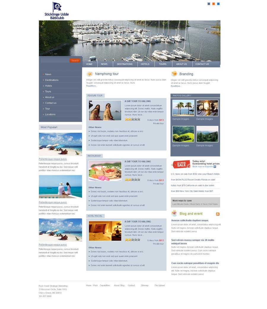 Contest Entry #                                        1                                      for                                         Joomla 3.0 Template for yacht club