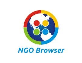 "#5 для The logo is for the company: ""NGO Browser"" it offers browser solutions for charity (non governmental organizations) as it also applies in browser extensions it should be round-see other browser logos like: Firefox, Internet Explorer, Chrome. Good luck! от sandy4990"