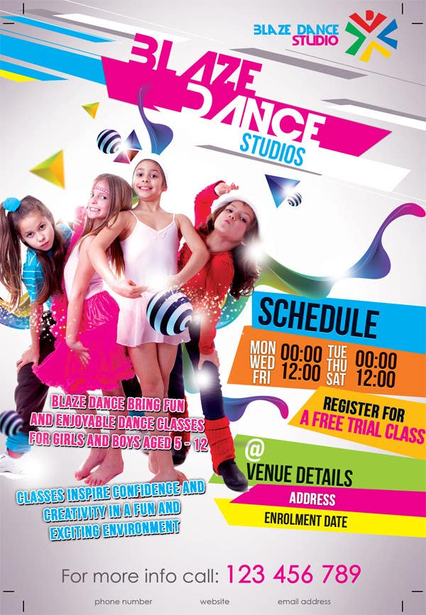 Entry #22 by mirandalengo for Design a Flyer for our kids dance ...
