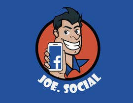 Nro 34 kilpailuun Design A Custom Cartoon Character for Joe.Social käyttäjältä eleanatoro22