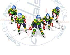 #13 for Draw hockey player illustration by letindorko2