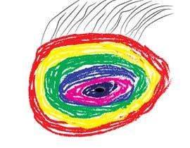 #16 для An image made by an 8 year old. It's a rainbow color eyeball.  I would like someone to  design a vector image of a similar concept of an eyeball with the same colors used in the attachment от pixelbd24