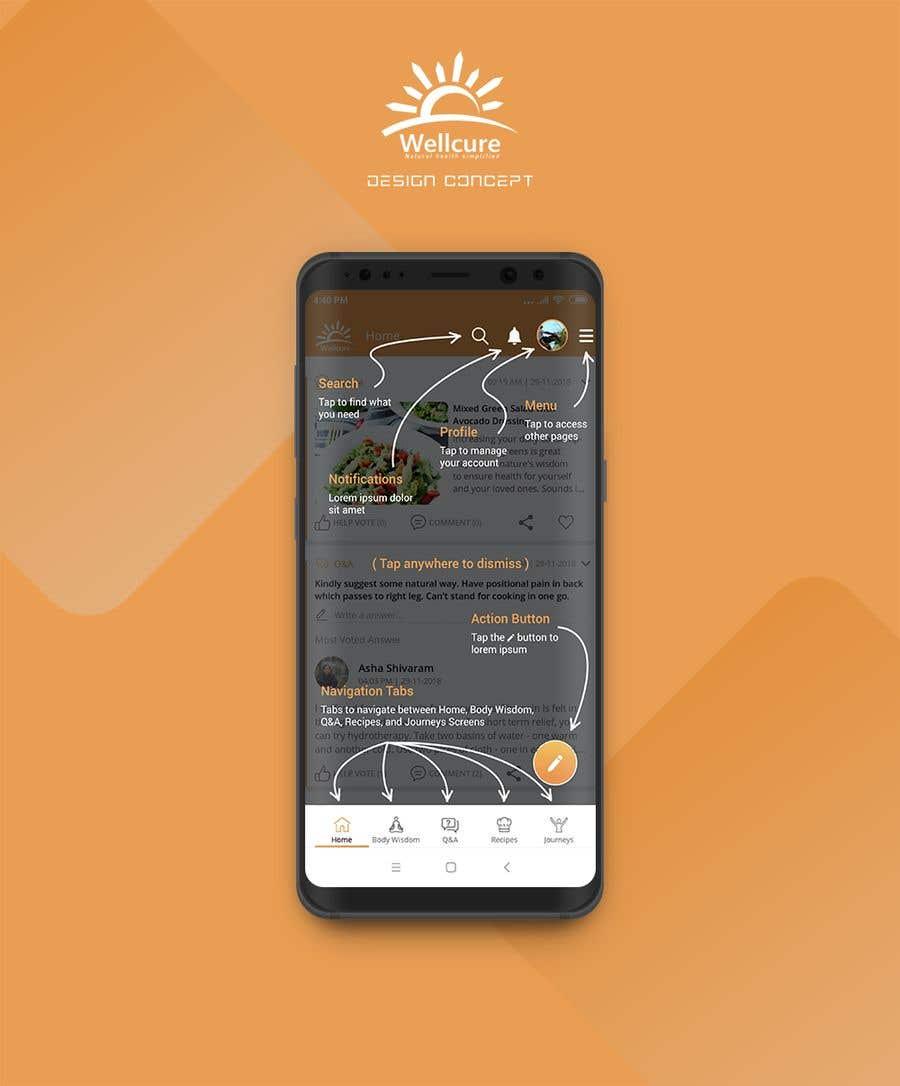 Penyertaan Peraduan #12 untuk Design the 'how to use' screens for Wellcure App