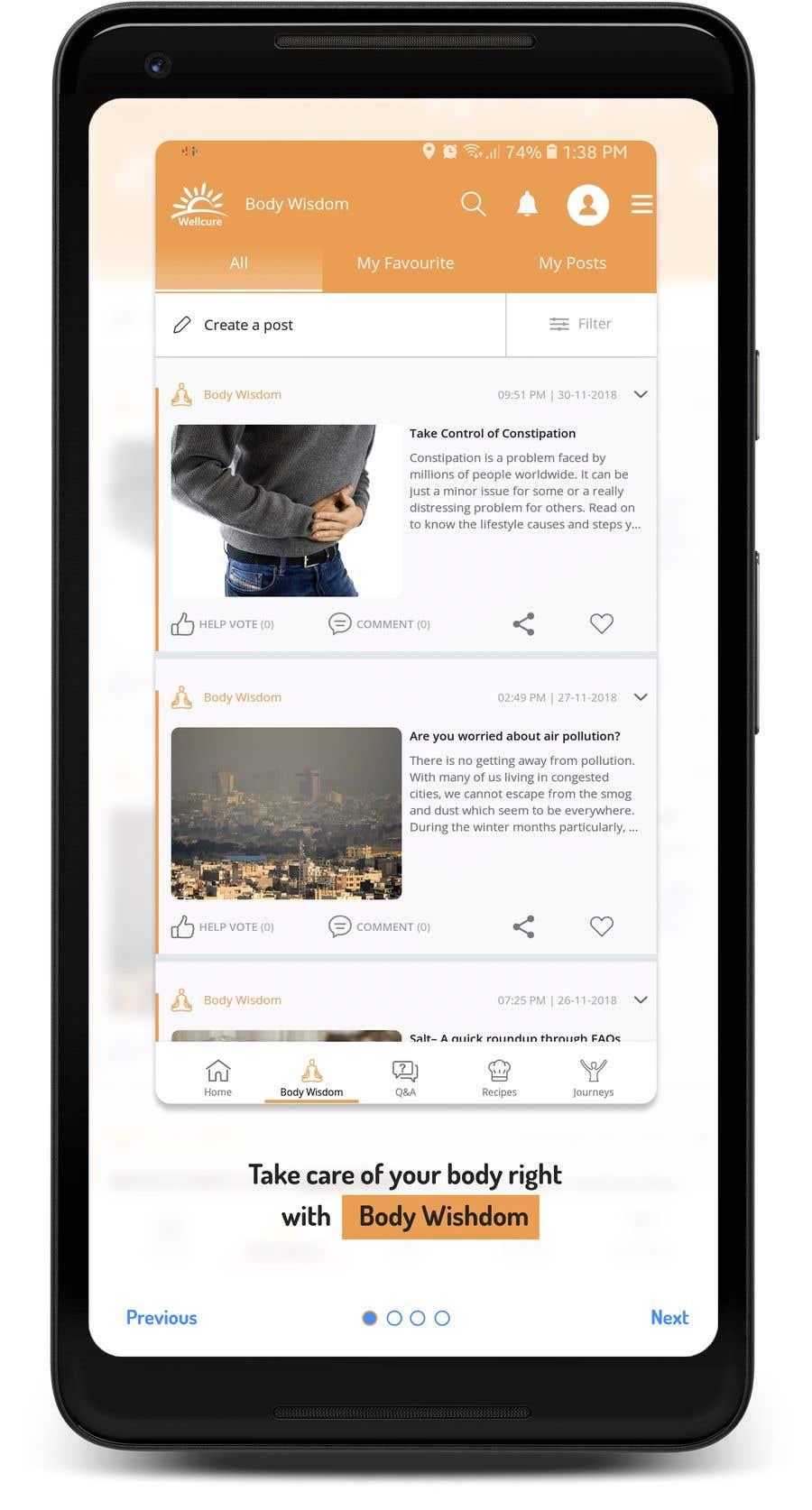 Penyertaan Peraduan #1 untuk Design the 'how to use' screens for Wellcure App