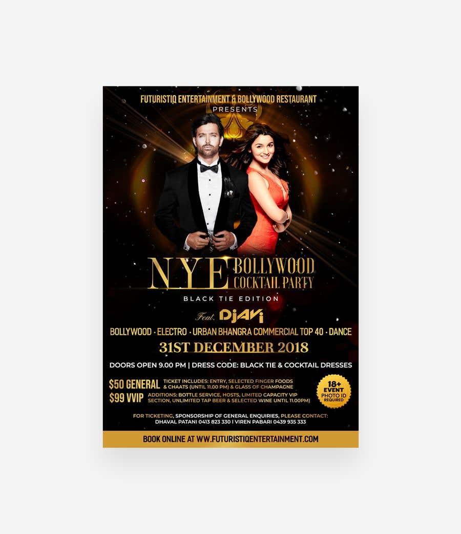 Kilpailutyö #35 kilpailussa NYE Bollywood Cocktail Party (Black Tie Edition)
