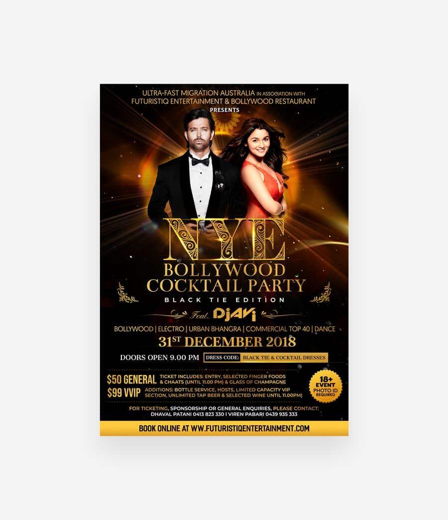 Kilpailutyö #40 kilpailussa NYE Bollywood Cocktail Party (Black Tie Edition)