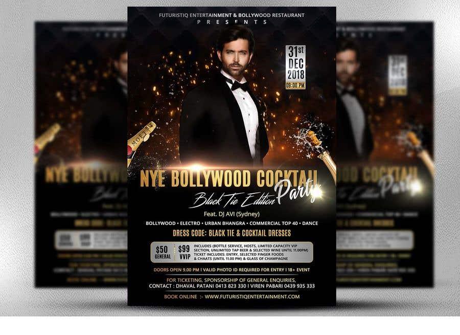 Kilpailutyö #15 kilpailussa NYE Bollywood Cocktail Party (Black Tie Edition)