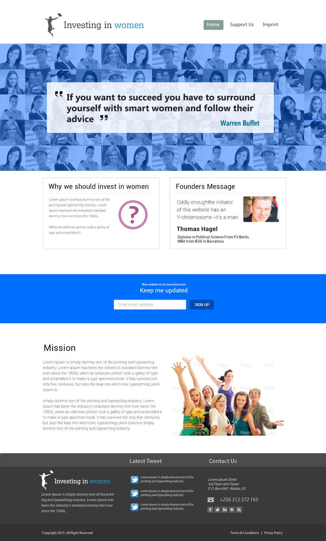 Bài tham dự cuộc thi #                                        15                                      cho                                         2 page website, design & WP programming, investing-in-women.com