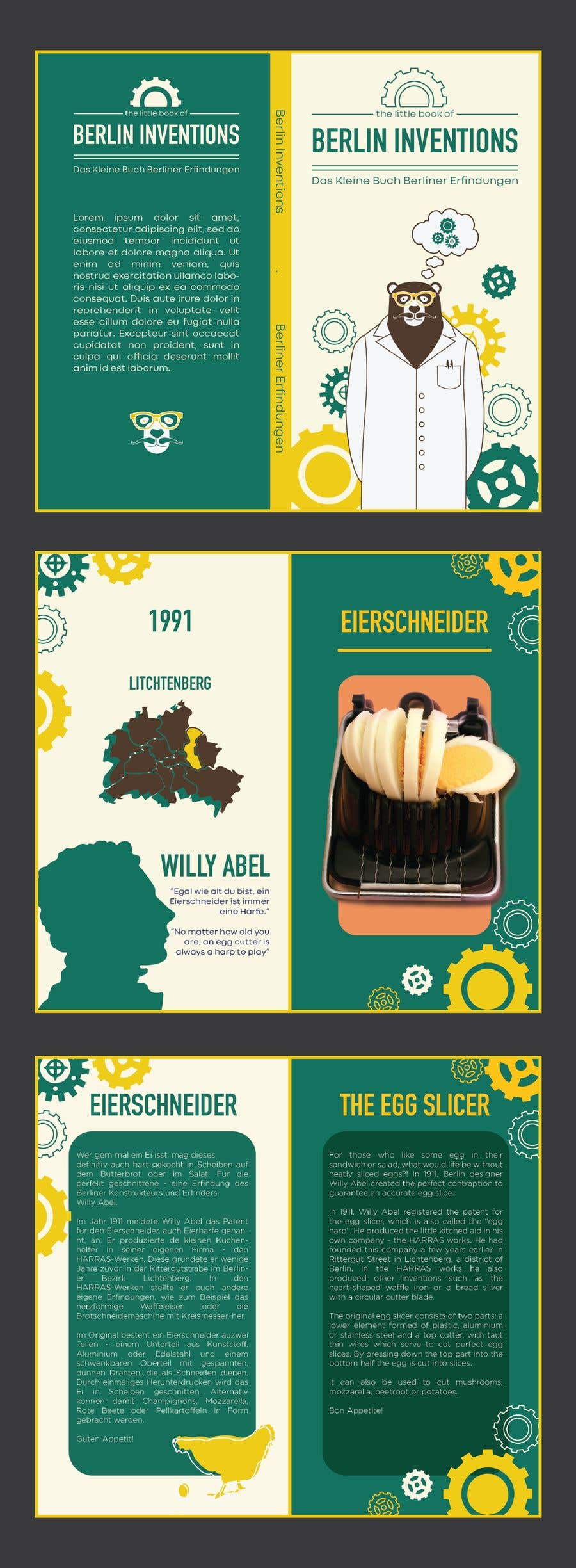 Contest Entry #27 for re Design of a booklet about inventions from the city of Berlin