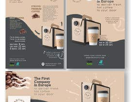 #123 para Brand identity launch flyers for coffee delivery service por noneacid