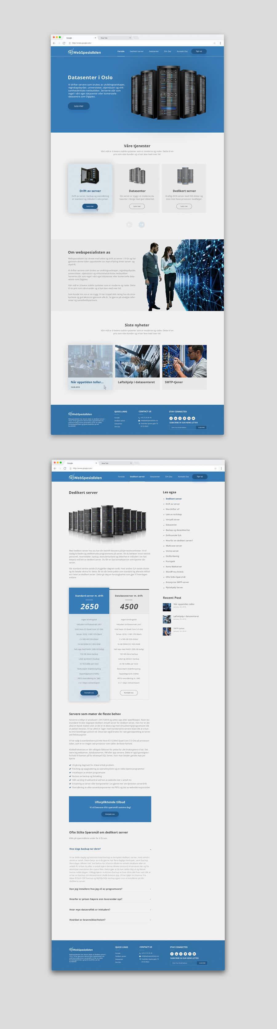 Inscrição nº 140 do Concurso para Design only for hosting company - 2 pages