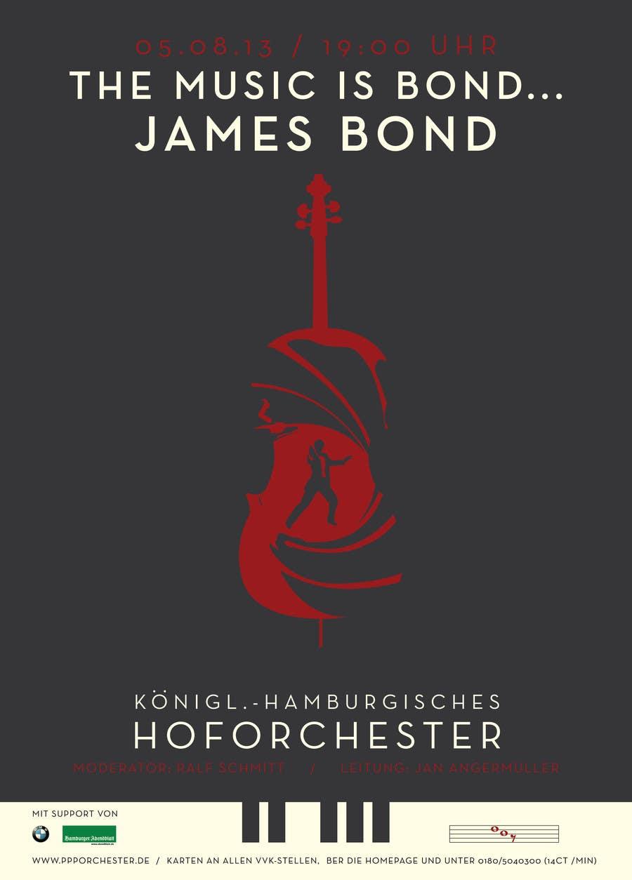 Konkurrenceindlæg #                                        137                                      for                                         James Bond Poster Design for Orchestra Concert