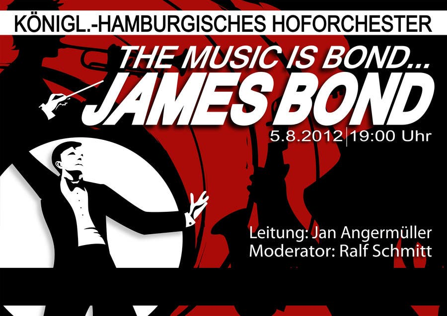 Konkurrenceindlæg #                                        65                                      for                                         James Bond Poster Design for Orchestra Concert