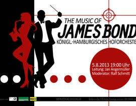 #174 for James Bond Poster Design for Orchestra Concert by frostyerica