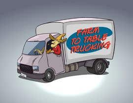 """#5 untuk Logo for """"Farm to Table Trucking"""" to be displayed on a truck and on emails to Chefs oleh atanasovskigorgi"""