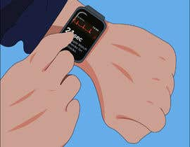 #6 for Create a diagram/Figure of apple watch and person testing ECG function by paulplal