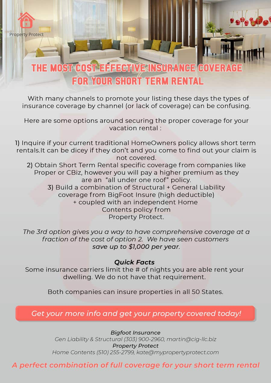 Entry #5 by VicentiuK for Hybrid short term rental insurance