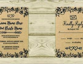 Nro 21 kilpailuun Design a rustic wedding invite template käyttäjältä xangerken