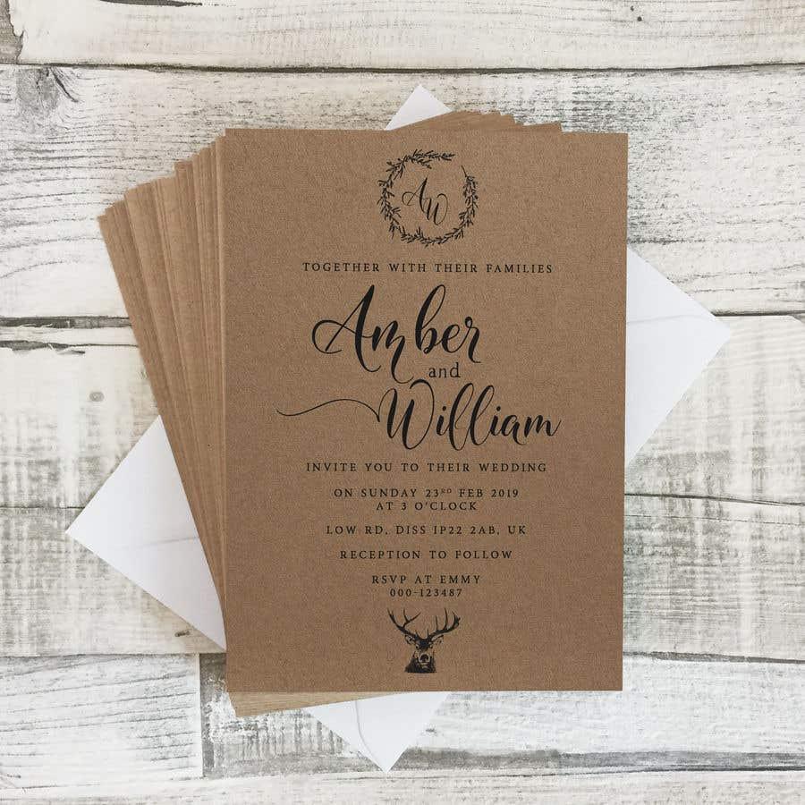 Kilpailutyö #46 kilpailussa Design a rustic wedding invite template