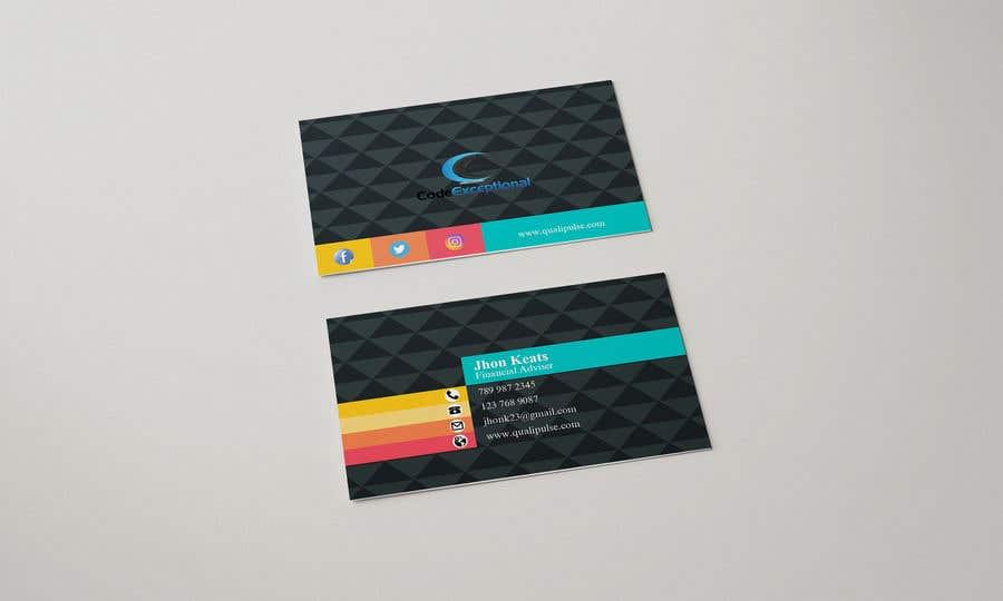 Inscrição nº 130 do Concurso para Visiting Card Design