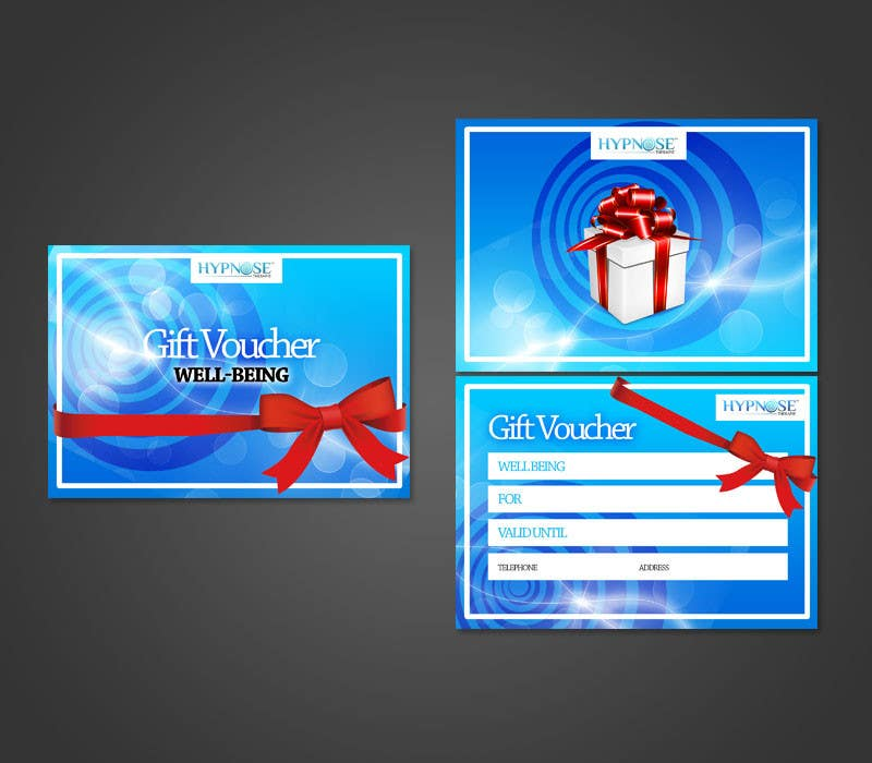 Конкурсная заявка №35 для Design of GIFT VOUCHERS : for HYPNOSIS