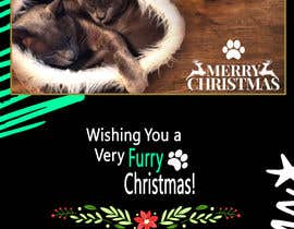 #32 untuk Digital Christmas card(s) with photos of my pet cats oleh hamzazamir99