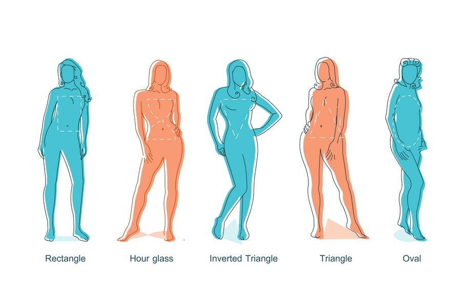 Penyertaan Peraduan #12 untuk Illustration Design for female body shapes/ types