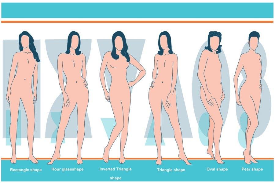 Penyertaan Peraduan #80 untuk Illustration Design for female body shapes/ types