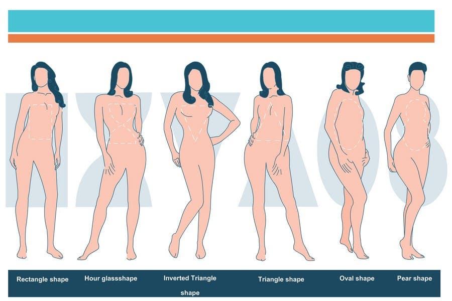 Penyertaan Peraduan #                                        84                                      untuk                                         Illustration Design for female body shapes/ types