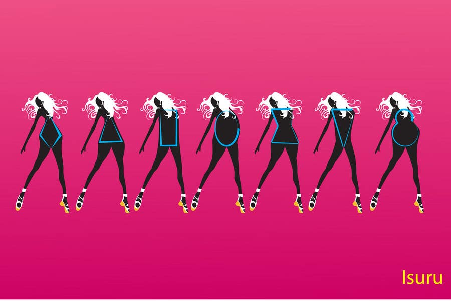 Bài tham dự cuộc thi #9 cho Illustration Design for female body shapes/ types