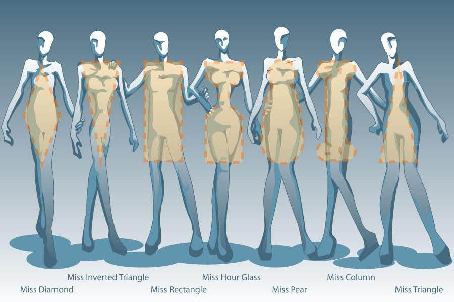 Penyertaan Peraduan #                                        62                                      untuk                                         Illustration Design for female body shapes/ types