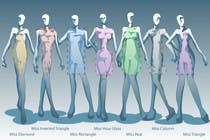 Illustration Design for female body shapes/ types için Graphic Design60 No.lu Yarışma Girdisi