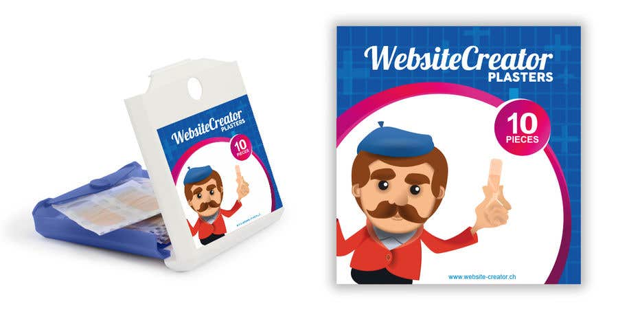 Kilpailutyö #21 kilpailussa Design a promotional plaster box